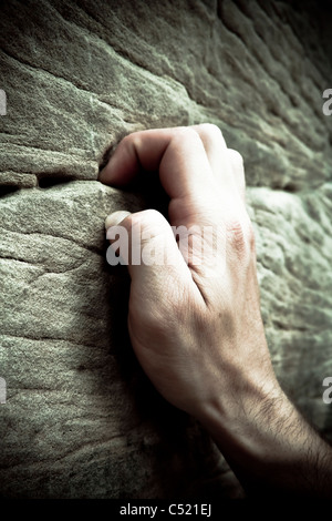 Hand of a climber, detail - Stock Photo