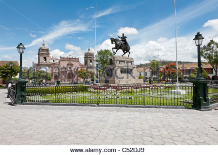 Plaza de Armas in Ayacucho, Peru - Stock Photo