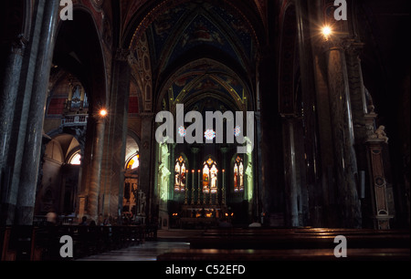 Basilica of Santa Maria sopra Minerva, interior, Rome, Latium, Italy - Stock Photo
