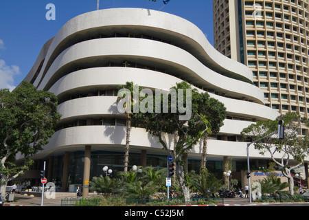 Asia House and IBM Tower Chaim Weitzman street Tel Aviv Israel - Stock Photo
