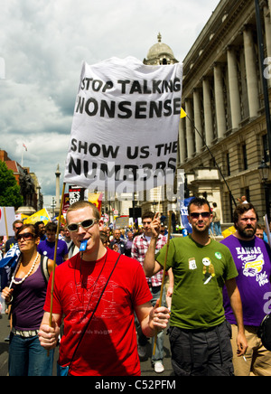 Demonstration against public sector cuts.  Photo by Gordon Scammell - Stock Photo