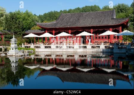 The Chinese Garden at the Garten der Welt in Marzahn district of Berlin Germany - Stock Photo