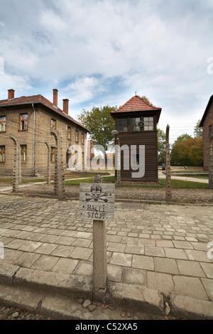 Poland Osviecim Auschwitz 1-Birkenau former German Nazi WW2 Death Concentration Camp - Stock Photo
