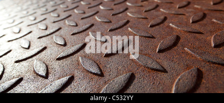 Surface of a rusty metal plate - Stock Photo