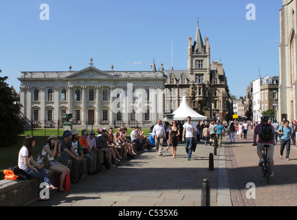 Kings Parade Cambridge June 2011 - Stock Photo