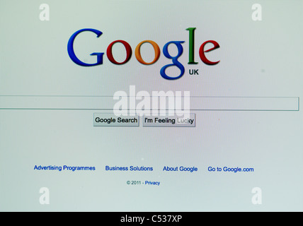 The Google Home page on the screen of an Macbook - Stock Photo