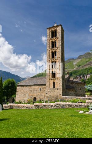 Romanesque church of Sant Climent de Taull, Catalonia, Spain - Stock Photo