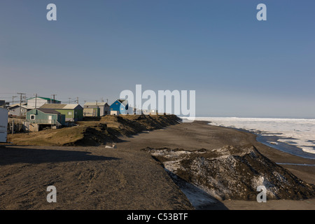 View of the northern most city in the United States, Barrow, located off the Chukchi Sea in the Arctic Ocean, Alaska