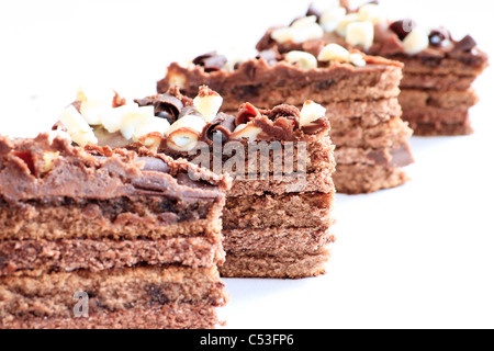 fresh wonderfully moist brownie with a deep fudge chocolate flavor - Stock Photo