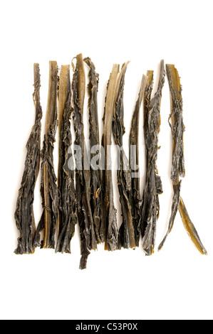 Dried wakame on a white backround - Stock Photo