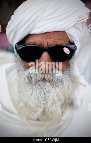 A portrait of a real Indian man - Stock Photo