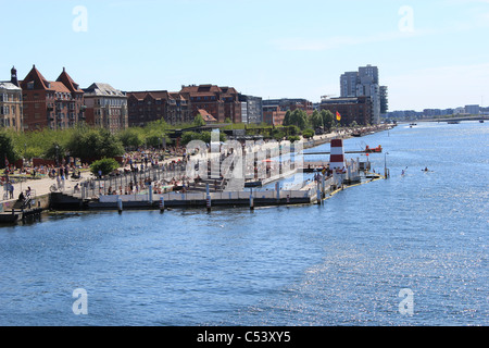 The Harbour Bath (Havnebade) in Islands Brygge, Copenhagen - Stock Photo