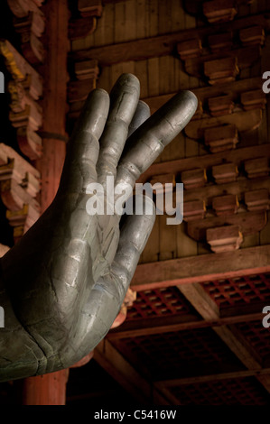 Close-up of a hand of Buddha statue in Todaiji Temple, Nara, Japan - Stock Photo