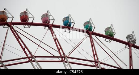 Low angle view of Odaiba Ferris Wheel, Minato Ward, Tokyo, Japan - Stock Photo