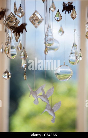 Close-up of a wind chime - Stock Photo