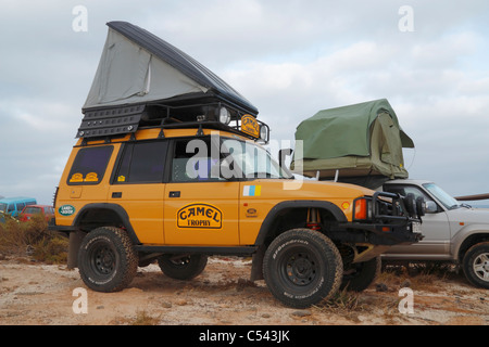 ... Land Rover Discovery with roof tent on beach on Fuerteventura Canary Islands Spain - : discovery roof top tent - memphite.com
