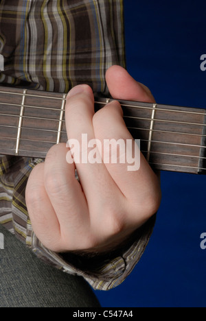 Mans Hand Demonstrating D Chord On Guitar Stock Photo 37587136 Alamy