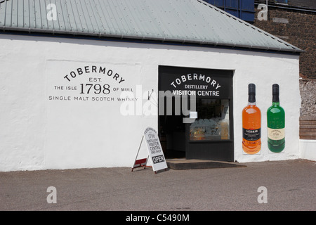 The Tobermory distillery visitor centre on the Isle of Mull - Stock Photo