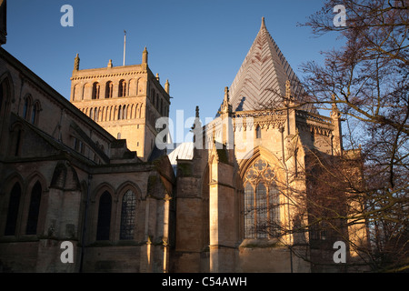 Southwell Minster chapter house and central tower - Stock Photo