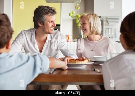 Family having food - Stock Photo