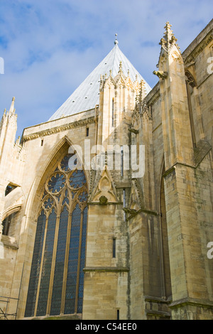 York Minster North Face, York, Yorkshire, England, UK - Stock Photo