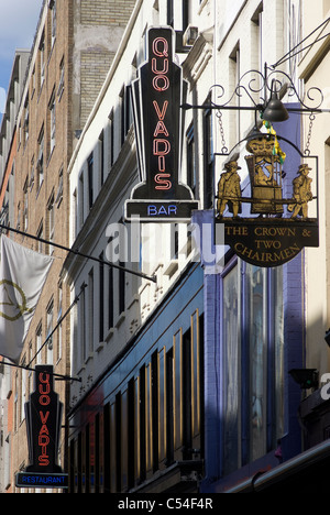 Pub and restaurant, Dean Street., Soho, London, W1, England - Stock Photo
