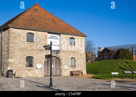 The former medieval Wool House, Southampton Maritime Museum, Southampton, Hampshire, England, UK - Stock Photo