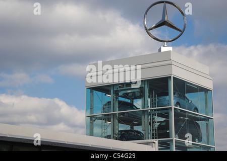 Mercedes, Great West Road, Brentford, London, England, UK - Stock Photo
