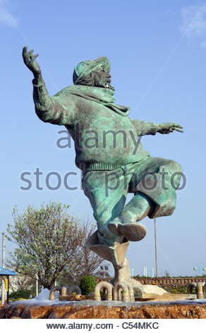 Skegness. The 'Jolly Fisherman' statue, taken from the 'Skegness is so bracing' poster. Lincolnshire - Stock Photo
