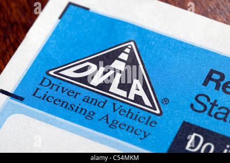 dvla tax disc renewal reminder form - Stock Photo