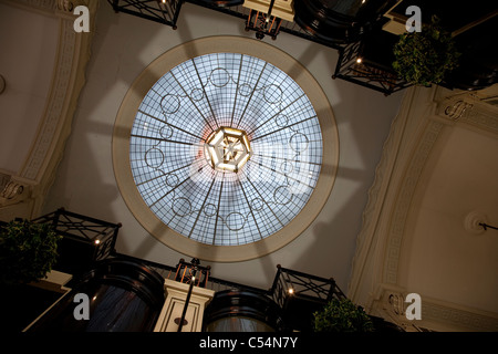 Dome Ceiling of Piccadilly Shopping Arcade in London, England, UK - Stock Photo