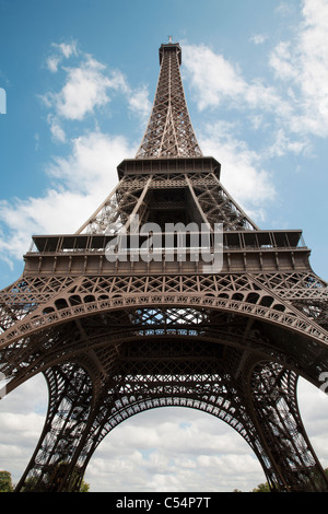 Paris - Eiffel tower from riverside - Stock Photo