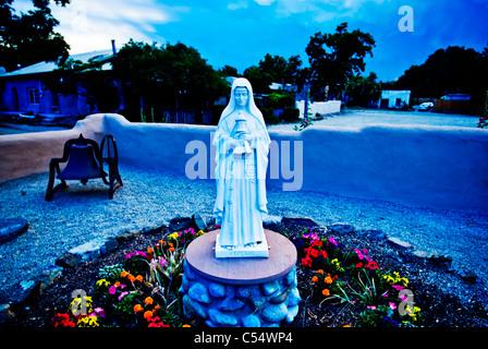Statue of Virgin Mary in a church, Church Of San Francisco De Asis, Ranchos De Taos, New Mexico, USA - Stock Photo