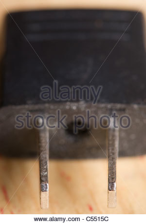 USA mains adapter plug - Stock Photo