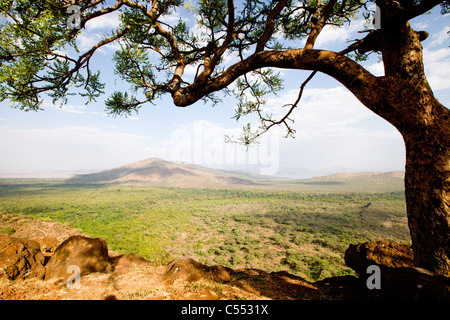 View of the bridge of God at Nechisar National Park, southern Ethiopia. - Stock Photo