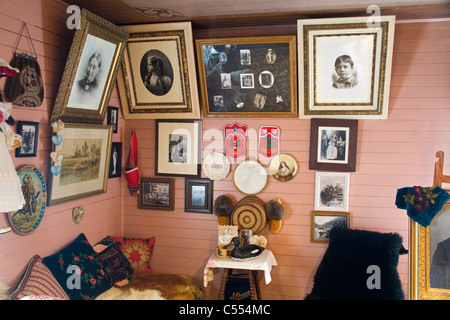 Picture frames in a museum, Historic Moore Homestead, Klondike Gold Rush National Historical Park, Skagway, Alaska, - Stock Photo