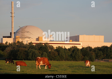 nuclear power station in Brokdorf, Germany - Stock Photo
