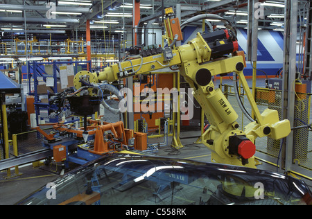 Windshield Assembly General Motors Assembly Plant St. Therese Quebec, Canada - Stock Photo