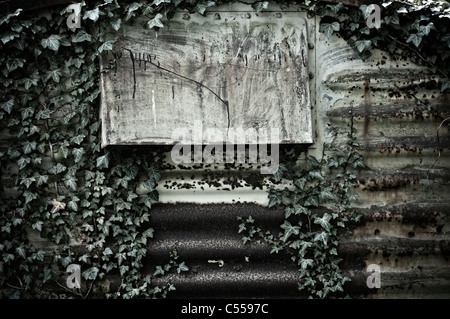 Ventilation of a corrugated iron shed - Stock Photo