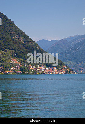 Isola Monte, Lake Iseo, Italy - Stock Photo