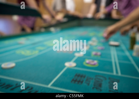 Out of focus roulette table - Stock Photo