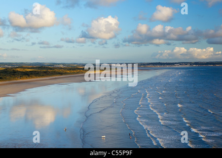 Saunton Sands and Braunton Burrows. Devon. England. UK. - Stock Photo