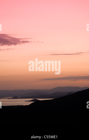 Dawn at Lake Abaya, southern Ethiopia. - Stock Photo