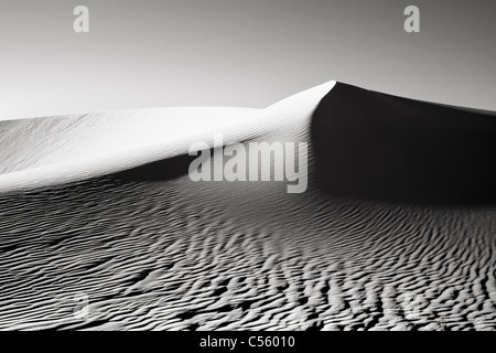 Sand dunes in a desert, White Sands National Monument, New Mexico, USA - Stock Photo