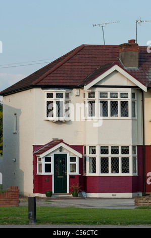 Semi detached house in the London borough of Enfield. UK - Stock Photo