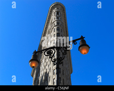The famous Flatiron building in Manhattan, New York City NY, USA - Stock Photo