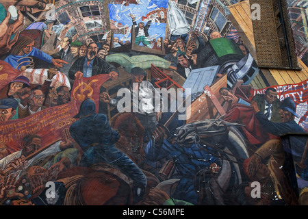 Mural to The Battle of Cable Street on Cable Street in East London. - Stock Photo