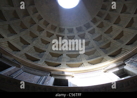 Pantheon Of Gods In Rome Italy From Square Fountain
