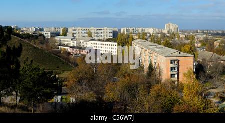 The skyline of Gresovskiy, Simferopol environ, Crimean autonomy, Ukraine. - Stock Photo