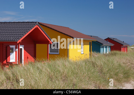 bungalows used as holiday homes on the small island 39 the dune 39 die stock photo royalty free. Black Bedroom Furniture Sets. Home Design Ideas